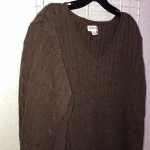 St. John's Brown V-neck Sweater